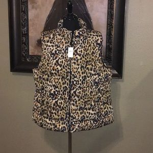 GAP Leopard Puffer Vest